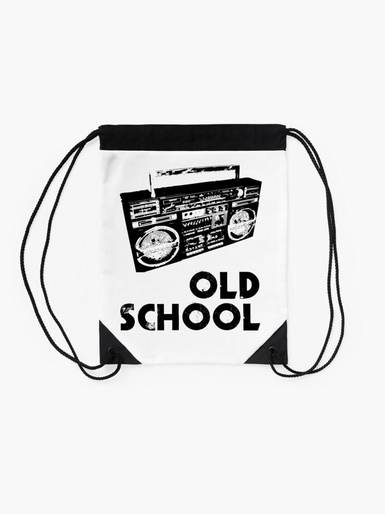 Alternate view of Old School - Boom Box  Drawstring Bag
