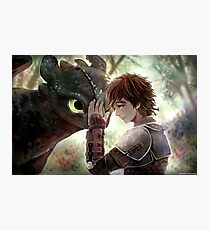 HTTYD - How to Train Your Dragon - Hiccup & Toothless Photographic Print