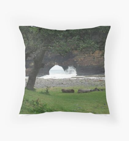 Hole in the wall Throw Pillow