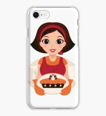 Vintage cooking Woman Vector iPhone Case/Skin