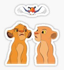 Pegatina Simba y Nala