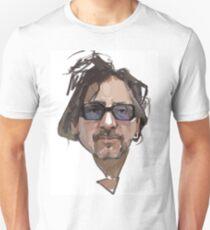 Tim Burton portrait digital illustration Unisex T-Shirt