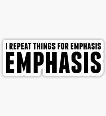 EMPHASIS Sticker