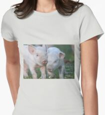 Cute Piglets Poster for Vegans/Vegetarians T-Shirt