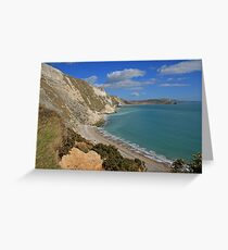 Mupe Bay and Bindon Hill Greeting Card