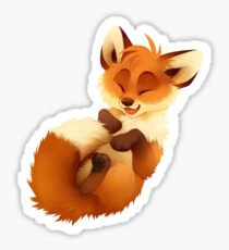 Playful Fox Sticker