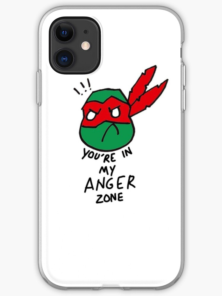 Tmnt 2012 Raphael You Re In My Anger Zone Iphone Case Cover