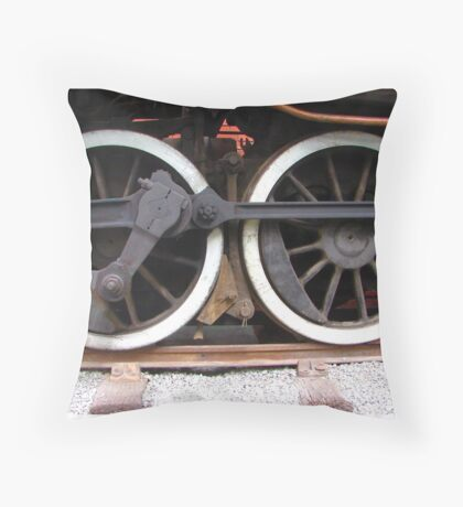 Wheels of steel Throw Pillow