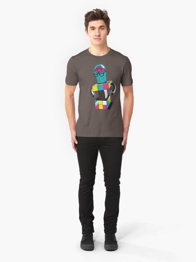 Alternate view of CubeBot Slim Fit T-Shirt