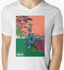 Camiseta para hombre de cuello en v Exposición Jojolion