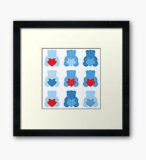 Cute Love Teddy Bear collection Framed Print