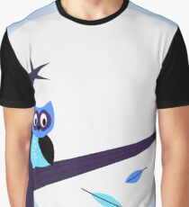 Halloween background with Owl Graphic T-Shirt