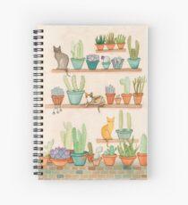 Cuaderno de espiral Gatos y Cactus