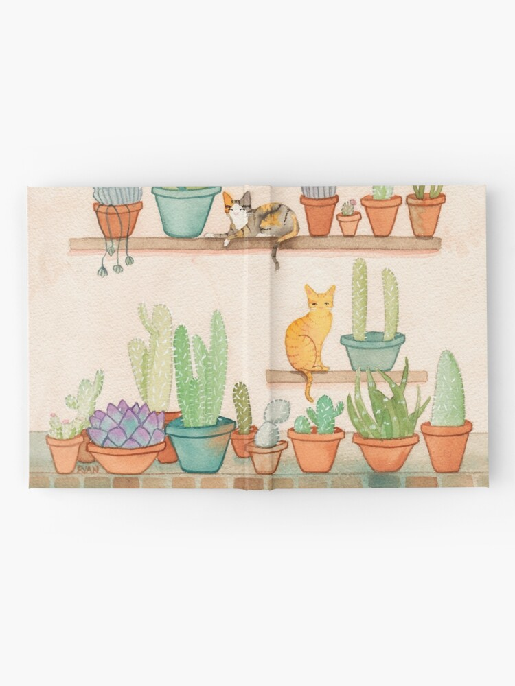 Alternate view of Cats and Cacti Hardcover Journal