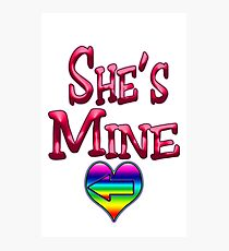 She's Mine (Arrow Pointing Left) Photographic Print