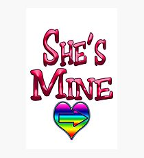 She's Mine (Arrow Pointing Right) Photographic Print