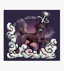 Am Actual Unicorn-Chocolate Photographic Print