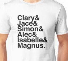 Clary & Jace & Simon & Alec & Isabelle & Magnus. (The Mortal Instruments) Unisex T-Shirt