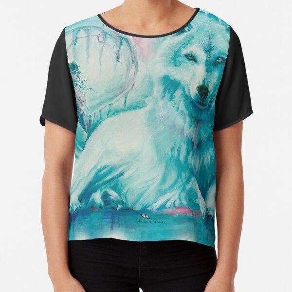 Wolf Dreaming Chiffon Top