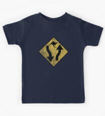 Kangaroo Sign - Urban Grunge Kids Tee