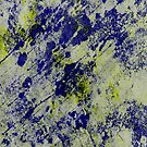 Textured Colour 2 - Study In Blue and Yellow by Printpix