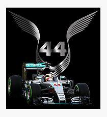 Lewis Hamilton 2016 F1 car driving Photographic Print