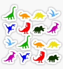 Fun Dinosaur Pattern Sticker