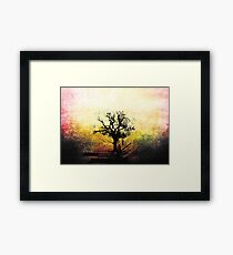 Grunge Tree Framed Print