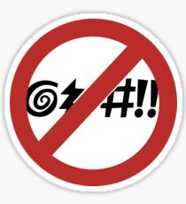 No Cursing Allowed, Sign, Virginia Beach, Virginia Sticker