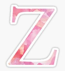 Zeta Pink Watercolor Letter Sticker