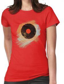 Vinyl Record Retro T-Shirt - Vinyl Records Modern Grunge Design Womens Fitted T-Shirt