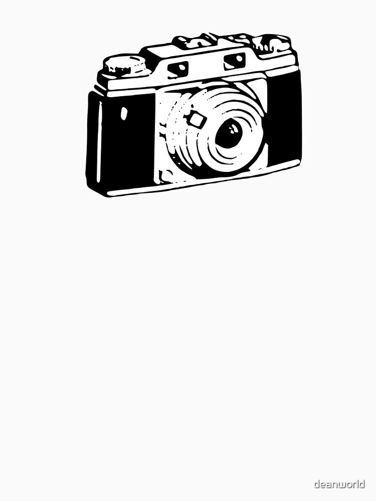 Retro Camera - Photographer T-Shirt Sticker by deanworld