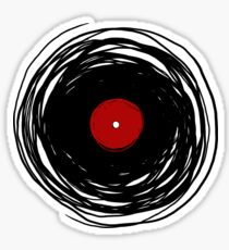 Spinning within with a vinyl record... Sticker