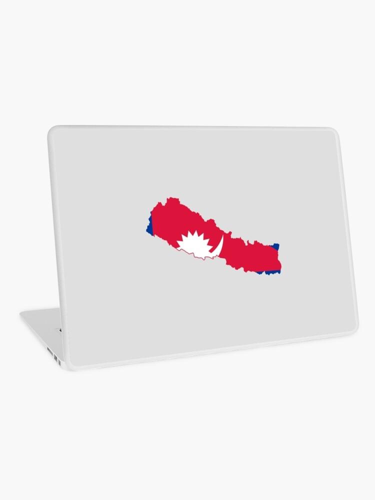 Flag Map of Nepal | Laptop Skin