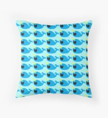 Cute Narwhale happy pattern Throw Pillow
