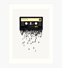 The death of the cassette tape. Art Print
