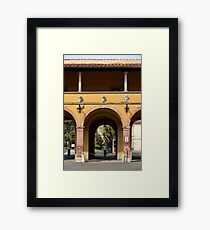 Traditional Italian gatehouse in yellow Framed Print