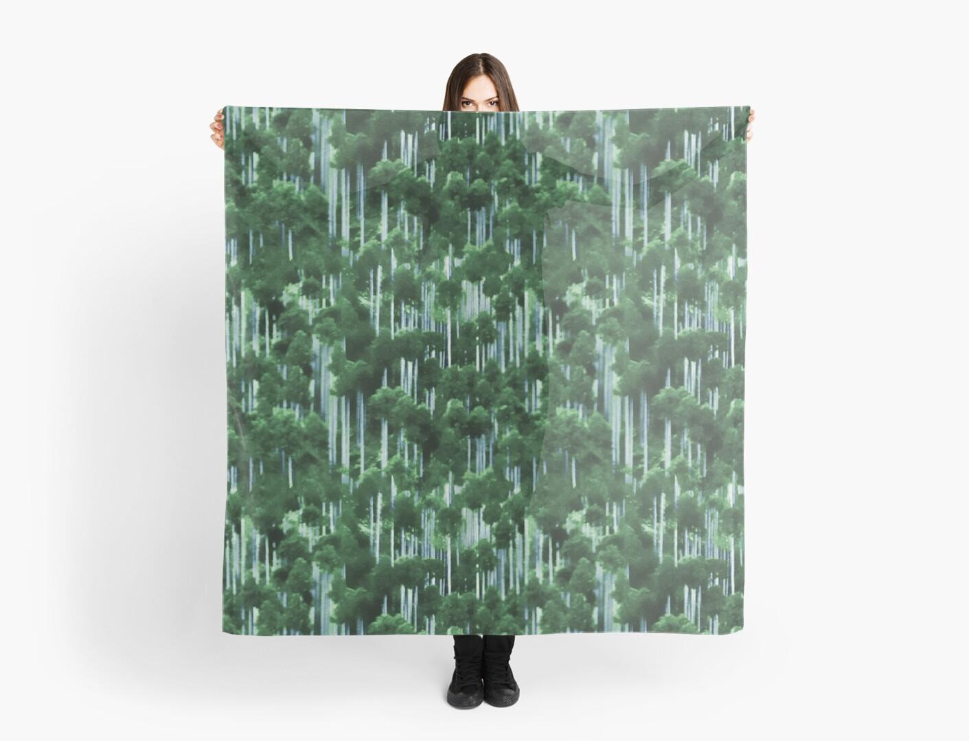 Japanese cedar forest pattern by Ivy Izzard