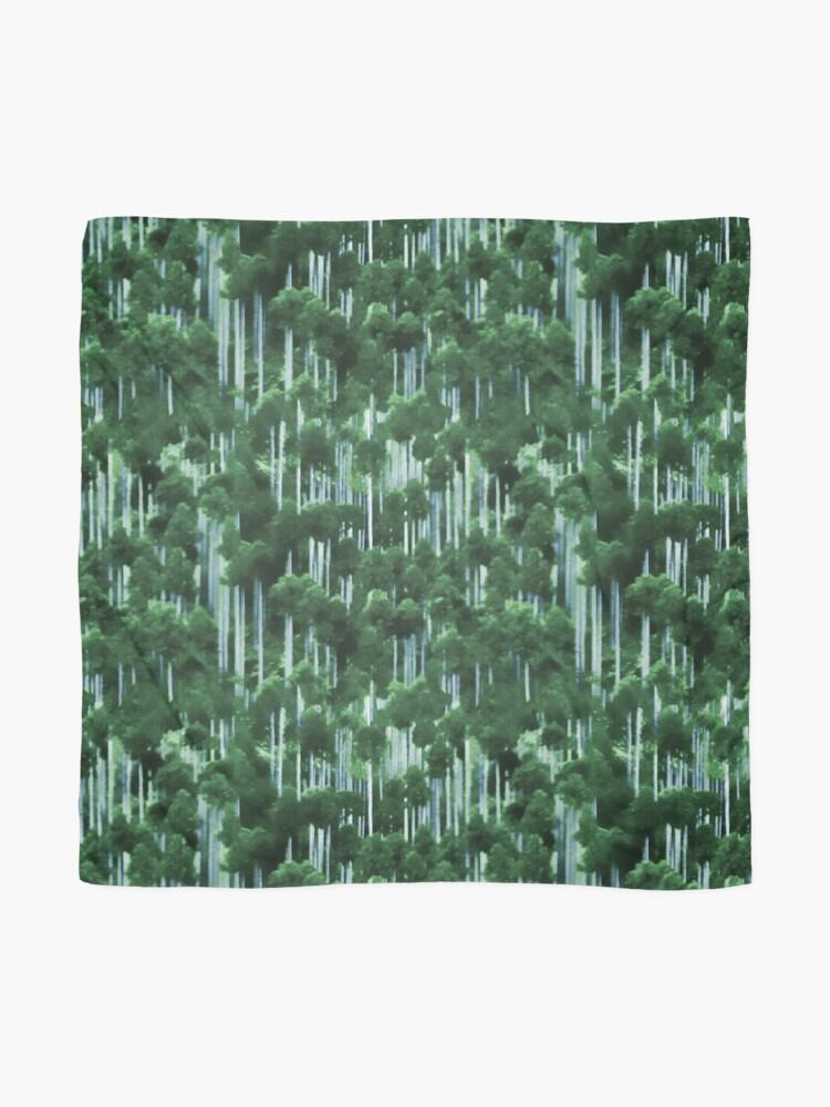 Alternate view of Japanese cedar forest pattern Scarf