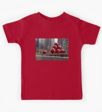A Christmas Card from New York City – Radio City Music Hall and the Giant Red Balls Kids Tee
