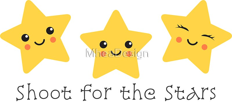 Quot Shoot For The Stars Cute Sticker Quot Stickers By Mheadesign