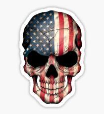 Pegatina Cráneo de la bandera americana