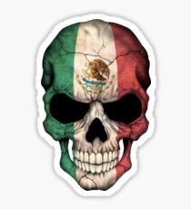 Mexican Flag Skull Sticker