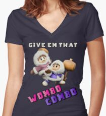 Wombo Combo Ice Climber Smash Bros Women's Fitted V-Neck T-Shirt
