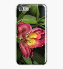 Alstremeria with foliage iPhone Case/Skin