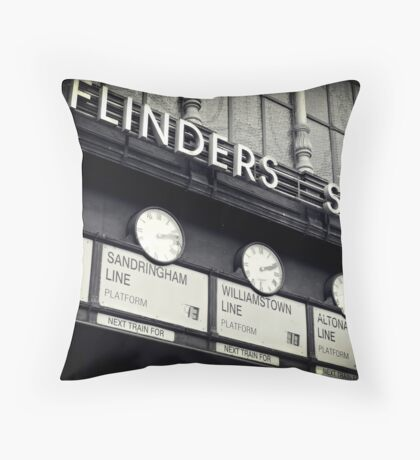 Station Clocks Throw Pillow