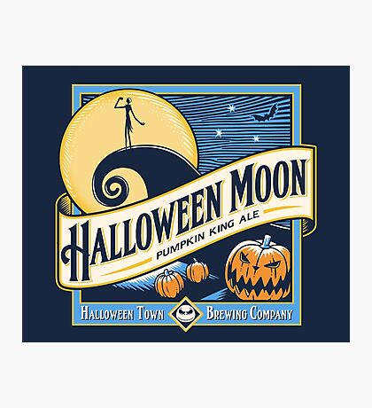 Halloween Moon Photographic Print