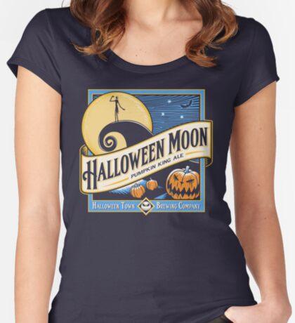 Halloween Moon Women's Fitted Scoop T-Shirt