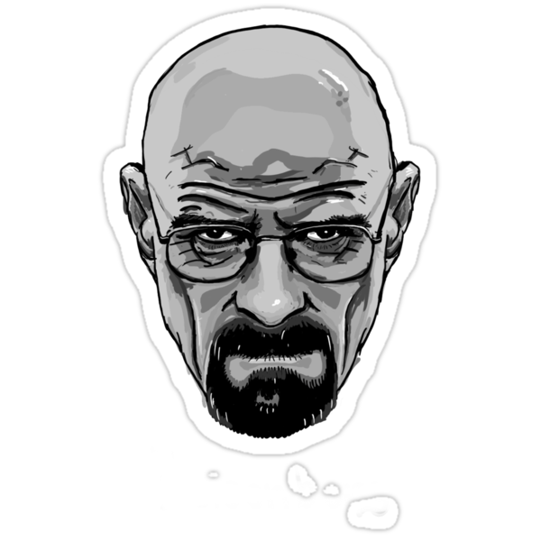 Walter White - Heisenberg - Breaking Bad- Black and White by ptelling