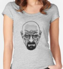 Walter White - Heisenberg - Breaking Bad- Black and White Women's Fitted Scoop T-Shirt